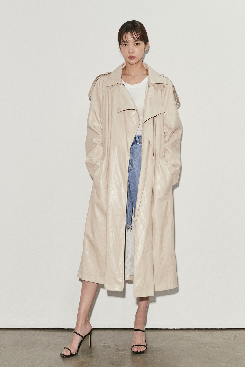 Nod Leather Trench Coat